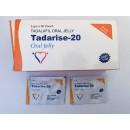 Tadalafil 20 mg oral strip